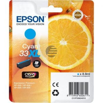 Epson Tintenpatrone cyan HC (C13T33624010, T3362)