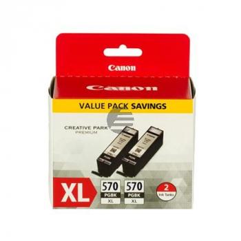 Canon Tintenpatrone 2 x schwarz HC (0318C007, 2 x PGI-570XLPGBK)