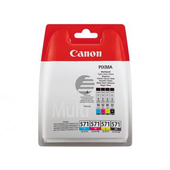 Canon Tintenpatrone gelb cyan magenta schwarz (0386C004, CLI-571BK CLI-571C CLI-571M CLI-571Y)