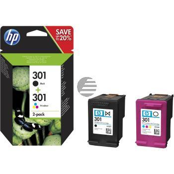 HP Tintendruckkopf Cyan/gelb/Magenta schwarz (N9J72AE, 301)
