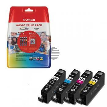Canon Tinte Fotopapier Hochglanz DIN A4 gelb Cyan Magenta schwarz (4540B017, CLI-526)