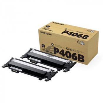 Samsung Toner-Kit 2x schwarz 2-er Pack (CLT-P406B)
