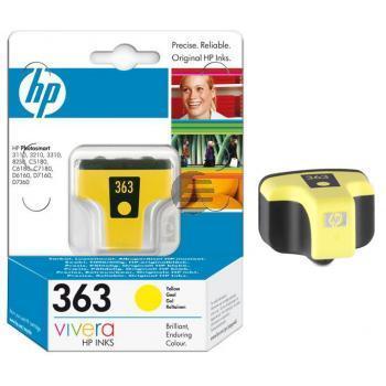 HP Tintenpatrone gelb (C8773EE#UUS, 363)