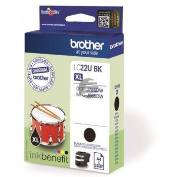 Brother Tintenpatrone schwarz (LC-22UBK)