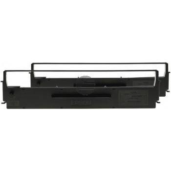 Epson Farbband Nylon 2x schwarz (C13S015646)
