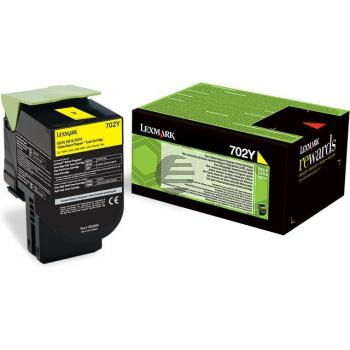 Lexmark Toner-Kit Corporate Return gelb (70C20YE, 702YE)