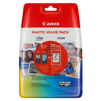 Canon Tintenpatrone Glossy Photo Paper 100x150mm cyan/gelb/magenta schwarz (5222B013, CL-541XL PG-540XL)