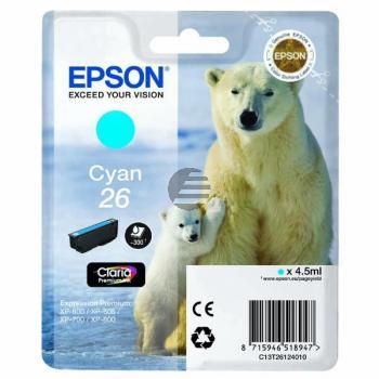 Epson Tinte Cyan (C13T26124012, T2612)