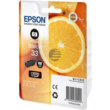 Epson Tintenpatrone with secure photo schwarz (C13T33414012, T3341)