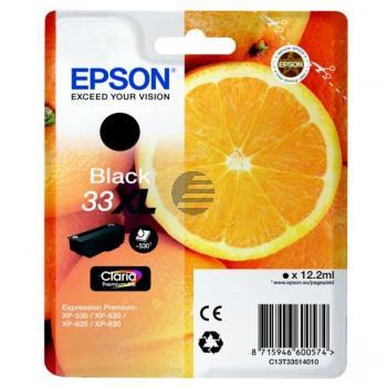 Epson Tintenpatrone schwarz HC (C13T33514012, T3351)