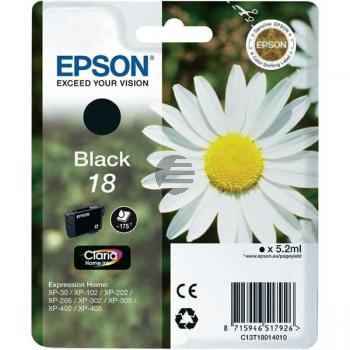 Epson Tinte schwarz (C13T18014022, T1801)