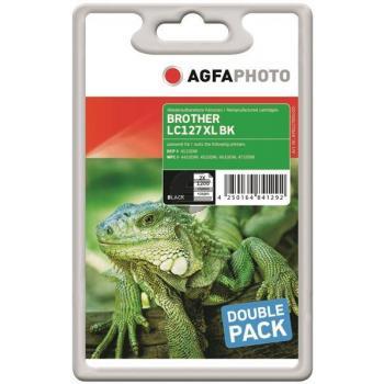 Agfaphoto Tintenpatrone 2 x schwarz HC (APB127BDUOD) ersetzt LC-127XLBKBP2