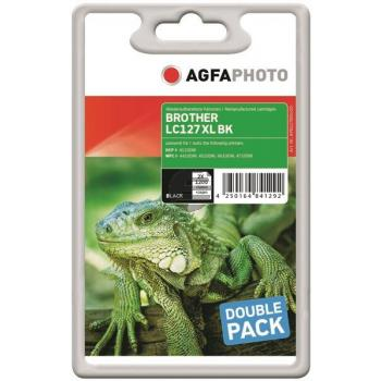 Agfaphoto Tintenpatrone 2x schwarz 2-er Pack HC (APB127BDUOD)