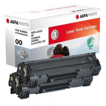 Agfaphoto Toner-Kartusche 2x schwarz 2-er Pack (APTHP285ADUOE)