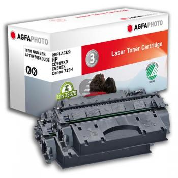 Agfaphoto Toner-Kartusche 2 x schwarz HC (APTHP505XDUOE) ersetzt CE505X / CE505XD