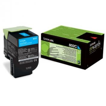 Lexmark Toner-Kit Corporate cyan schwarz (80C20CE, 802CE)