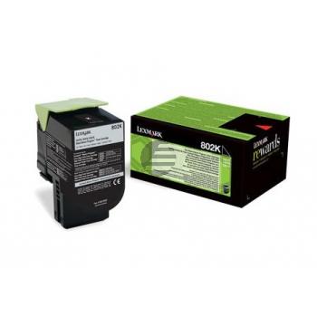 Lexmark Toner-Kit Corporate Return schwarz (80C20KE, 802KE)