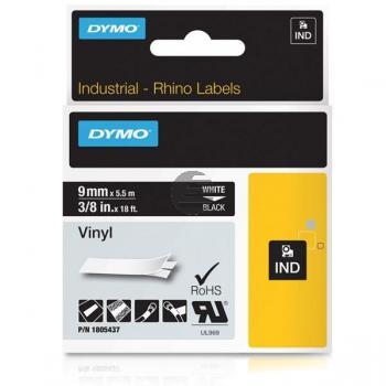 Dymo Farbiges Vinylband 90mm weiß/schwarz (1805437)