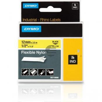 Dymo Flexibles Nylonband 120mm schwarz/gelb (18490)