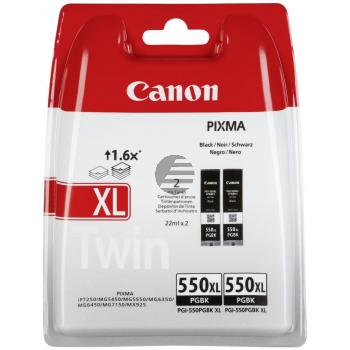 Canon Tintenpatrone pigment schwarz (2-er Pack) (6431B005, PGI-550PGBKXL)