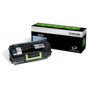 52D2H0L LEXMARK MS711DN TONER BLACK 25.000Seiten 522HL label return