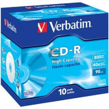 VERBATIM CDR90 800MB 40x (10) JC 43428 Jewel Case