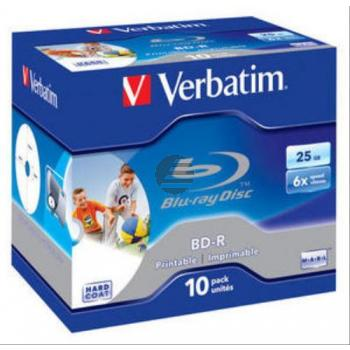 VERBATIM BD-R 25GB 6x (10) JC 43713 Jewel Case tintenstrahlbedruckbar