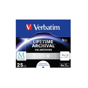 VERBATIM BD-R 25GB 4x (5) JC 43823 Jewel Case tintenstrahlbedruckbar