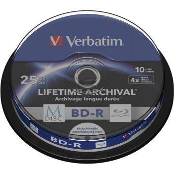 VERBATIM BD-R 25GB 4x (10) CB 43825 MDISC Cake Box