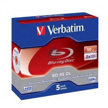 VERBATIM BD-RE 50GB RW 2x (5) JC 43760 Dual Layer wiederbeschreibbar