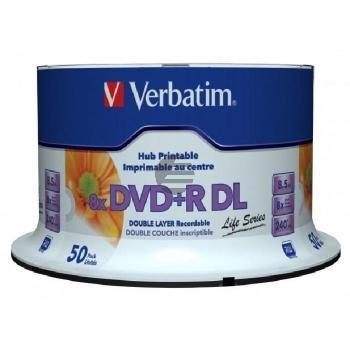 VERBATIM DVD+R 8.5GB DL 8x (50) CB 97693 Cake Box tintenstrahlbedruckbar