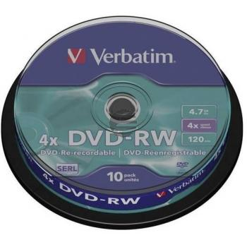 VERBATIM DVD-R 4.7GB 4x (5) JC 43552 Jewel Case matt silber