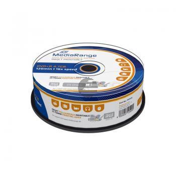 MEDIARANGE DVD+R 4.7GB 16x (25) CB WEISS MR408 Cake Box tintenstrahlbedruckbar