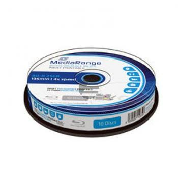 MEDIARANGE BD-R DL 50GB 6x (10) CB WEISS MR509 Cake Box tintenstrahlbedruckbar