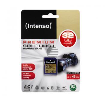 INTENSO SD SPEICHERKARTE UHS-I 32GB 3421480 Klasse 10