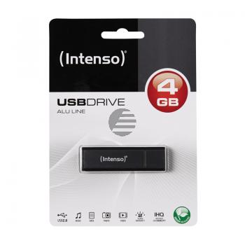 INTENSO USB STICK 2.0 4GB ANTHRAZIT 3521451 Alu Line