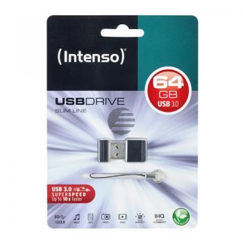 INTENSO USB STICK 3.0 64GB SCHWARZ 3532490 Slim Line