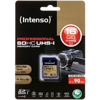 INTENSO SDHC SPEICHERKARTE UHS-I 16GB 3431470 Klasse 10