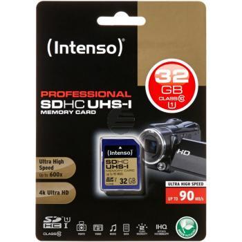 INTENSO SDHC SPEICHERKARTE UHS-I 32GB 3431480 Klasse 10