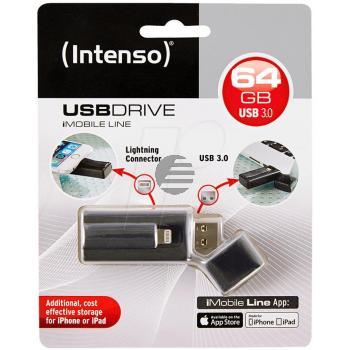 INTENSO USB STICK 3.0 64GB SCHWARZ 3535490 Imobile Line