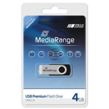 MEDIARANGE FLEXI USB STICK 4GB MR907 USB 2.0 schwarz-silber