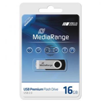 MEDIARANGE FLEXI USB STICK 16GB MR910 USB 2.0 schwarz-silber