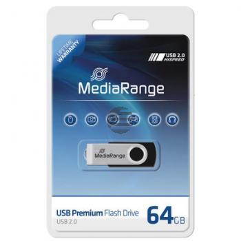 MEDIARANGE FLEXI USB STICK 64GB MR912 USB 2.0 schwarz-silber