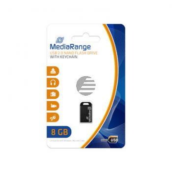 MEDIARANGE NANO USB STICK 8GB MR920 USB 2.0 schwarz