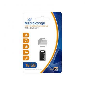 MEDIARANGE NANO USB STICK 16GB MR921 USB 2.0 schwarz