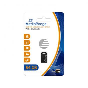 MEDIARANGE NANO USB STICK 64GB MR923 USB 3.0 schwarz