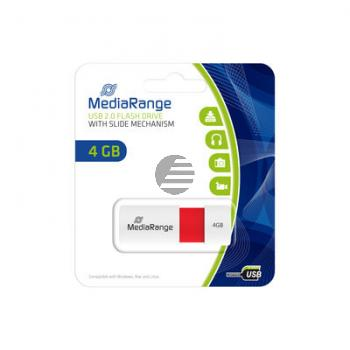 MEDIARANGE USB STICK 4GB ROT MR970 Schiebemechanismus