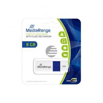 MEDIARANGE USB STICK 8GB BLAU MR971 Schiebemechanismus