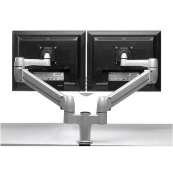 BNESPDGR BAK FLEXIBLER MONITORARM 3-8KG fuer Flachbildschirm dual grommet