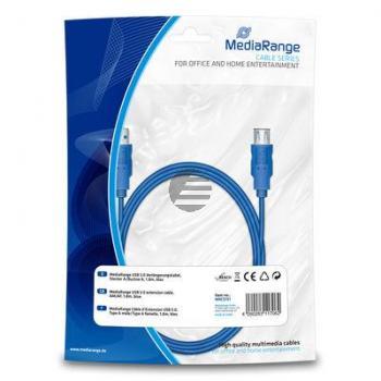 MEDIARANGE USB KABEL AM/AF 1.8m MRCS151 USB 3.0 blau